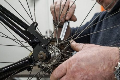 Bike maintenance at the Rediscovery Centre