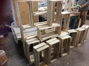Making Exhibition Stand from Upcycled Pallets