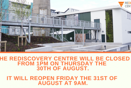 Centre closed from 1pm 30th August
