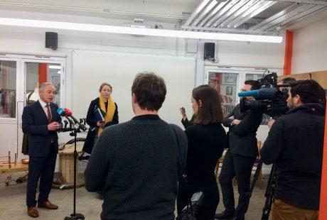Minister Richard Bruton TD No Plastics launch