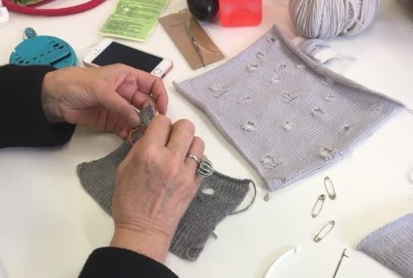 Mending Knitwear at the Rediscovery Centre