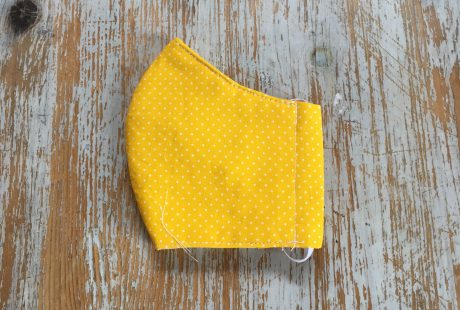 Kid's Yellow Folded Mask