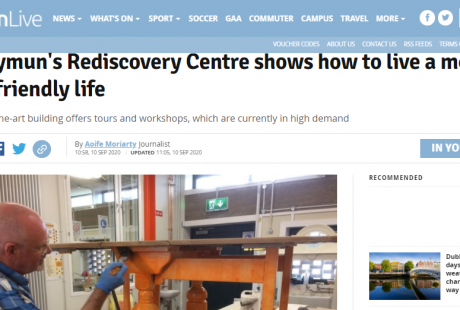 Dublin Live and the Rediscovery Centre 10.09.2020