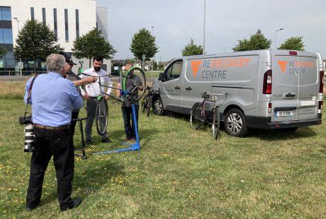 Minister Joe O'Brien TD launch Pilot Bike and E-Bike Upcycling Initiative.